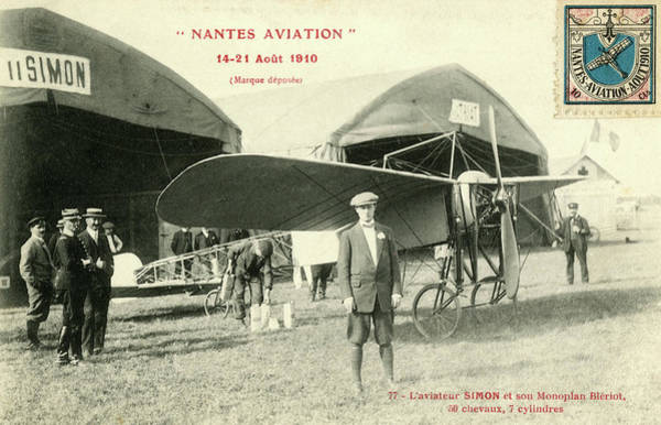 Bleriot Photograph - Simon, With His Bleriot  At The 'nantes by Mary Evans Picture Library