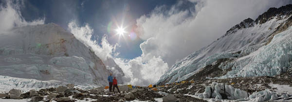 Wall Art - Photograph - Simone Moro And Ueli Steck On Everest by Jonathan Griffith