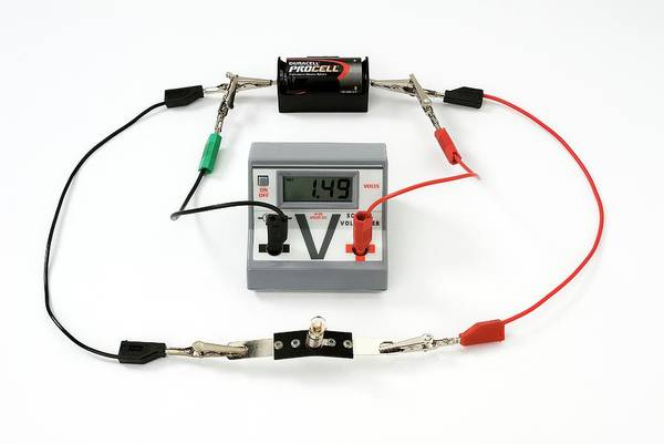 Battery Photograph - Simple Circuit To Measure Volts by Trevor Clifford Photography