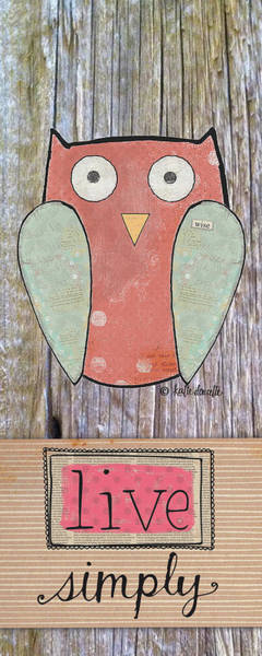 Barn Owl Painting - Simple Owl by Katie Doucette