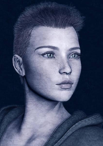 Painting - Simple Portrait by Maynard Ellis