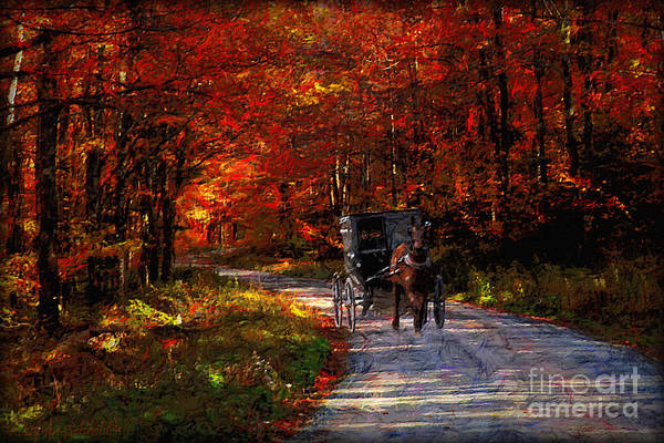 Amish Country Digital Art - Simpler Times by Lianne Schneider