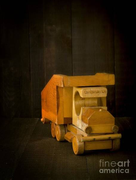 Photograph - Simpler Times - Old Wooden Toy Truck by Edward Fielding