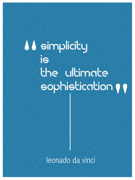 Digital Art - Simplicity Minimalist Poster by Celestial Images