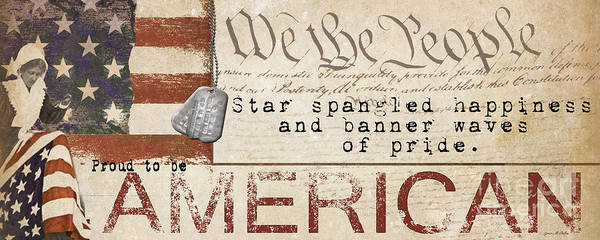 Star-spangled Banner Wall Art - Painting - Simplified America by Grace Pullen