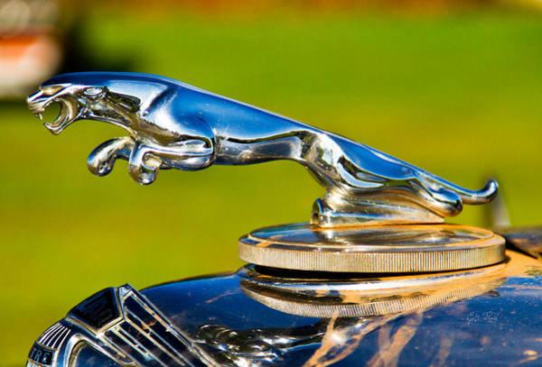 Clunker Wall Art - Photograph - Simply Jaguar-front Emblem by Eti Reid
