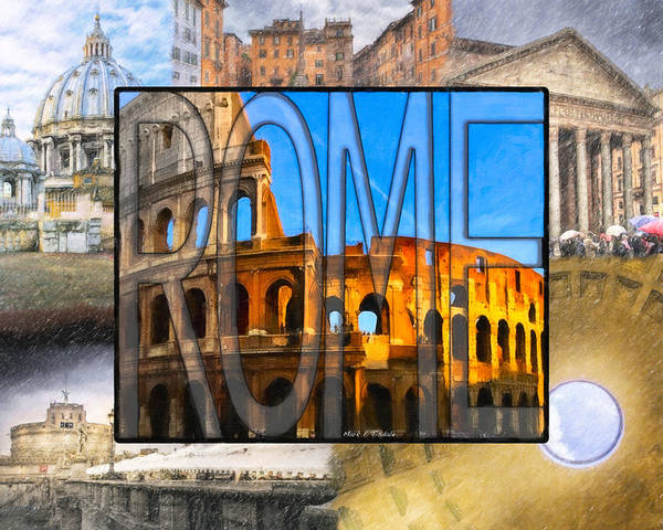 Photograph - Simply Rome - Roman Word Art by Mark Tisdale