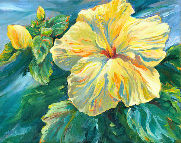 Hibiscus Flower Painting - Simply Spectacular by Lisa Bunge