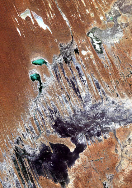 Satellite Photograph - Simpson Desert  Australia  by Anonymous