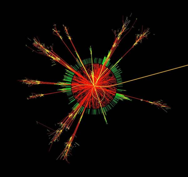 Particle Physics Wall Art - Photograph - Simulated Microscopic Black Hole by Cern/science Photo Library