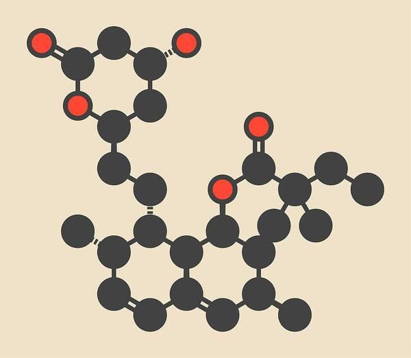 Cholesterol Photograph - Simvastatin Cholesterol Drug Molecule by Molekuul