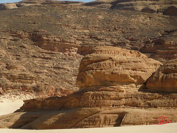 Photograph - Sinai Desert Nature Formations Egypt by Colette V Hera  Guggenheim