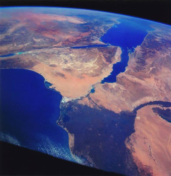 Wall Art - Photograph - Sinai Peninsula And Nile River Delta by Nasa/science Photo Library