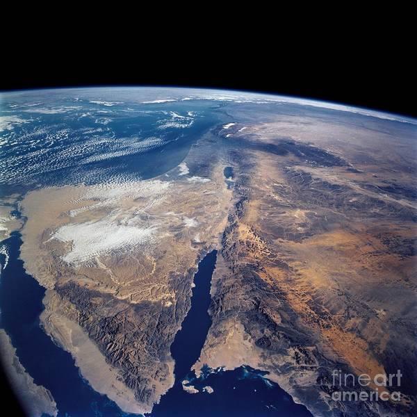 Photograph - Sinai Peninsula Dead Sea Rift by Science Source