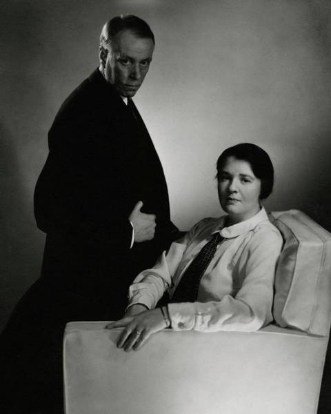 Husband Photograph - Sinclair Lewis And Dorothy Lewis by Edward Steichen