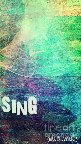 Wall Art - Digital Art - Sing by Currie Silver