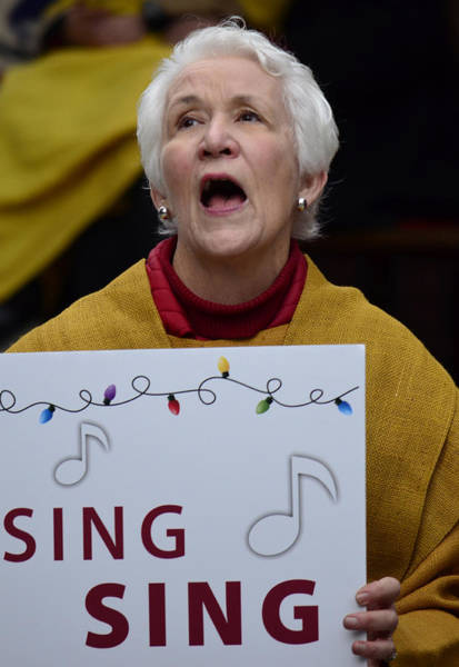 Carol Singing Photograph - Sing Sing by The Artist Project
