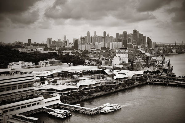 Photograph - Singapore Aerial by Songquan Deng