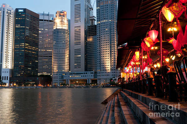 Rick Piper Photograph - Singapore Boat Quay 02 by Rick Piper Photography