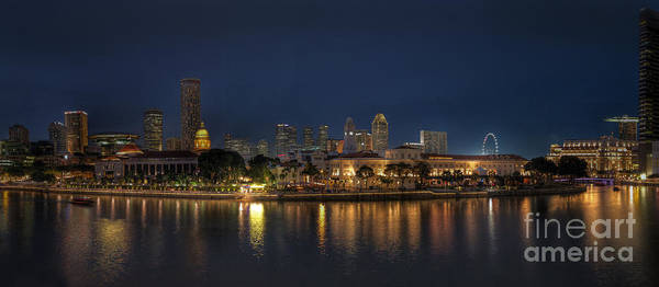 Photograph - Singapore By Night by Hans Janssen