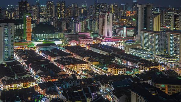 Chinese New Year Photograph - Singapore Chinatown by Edward Tian