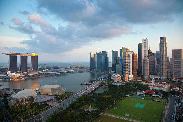 Wall Art - Photograph - Singapore Downtown Overview Credit by Jaynes Gallery