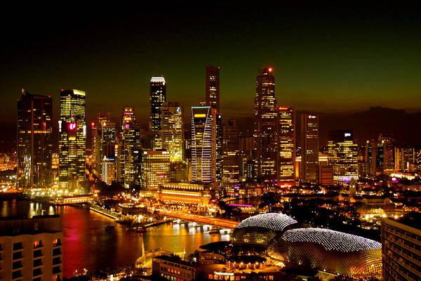 Photograph - Singapore Skyline by Monique Wegmueller