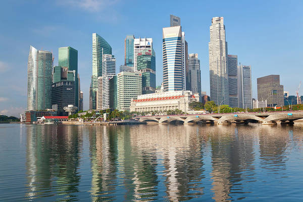 Southeast Asia Wall Art - Photograph - Singapore Skyline, Singapore, Se Asia by Peter Adams