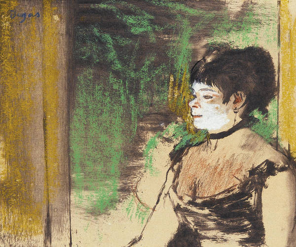 Impressionistic Drawing - Singer In A Cafe Concert by Edgar Degas