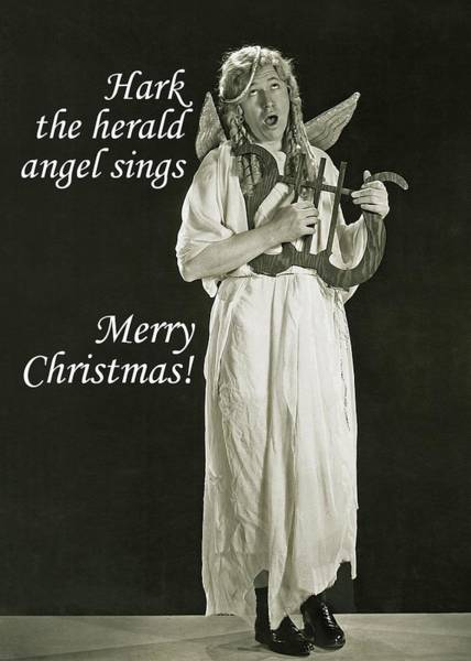 Wall Art - Photograph - Singing Angel Christmas Greeting Card by Communique Cards