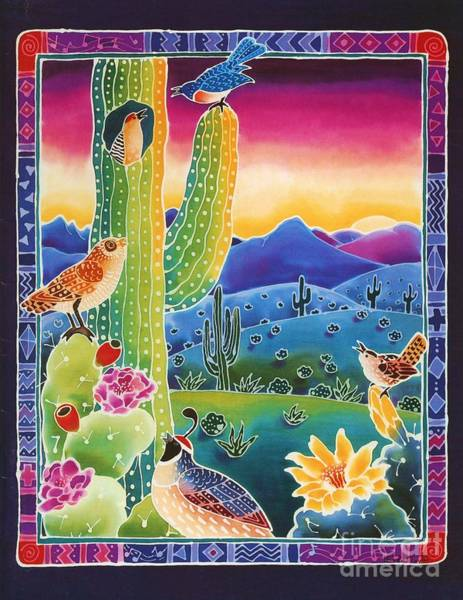 Sonoran Desert Wall Art - Painting - Singing In The Sunrise by Harriet Peck Taylor