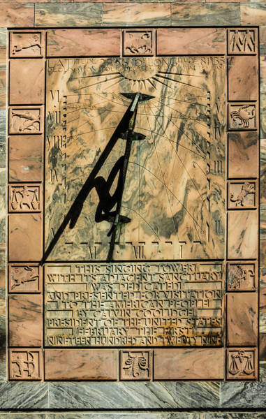Photograph - Singing Tower Sundial by Penny Lisowski