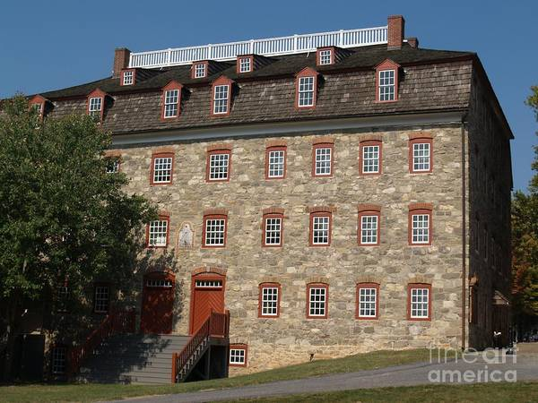 Lehigh University Wall Art - Photograph - Single Brethren's House -- Moravian College by Anna Lisa Yoder