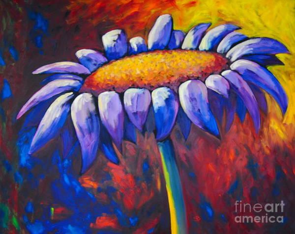Samantha Painting - Single Daisy by Samantha Black