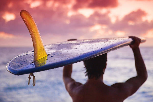 House Wall Art - Photograph - Single Fin Surfer by Sean Davey
