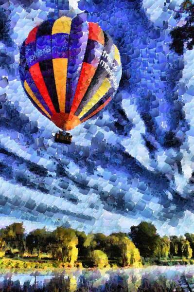 Balloon Festival Digital Art - Single Hot Air Balloon by Mick Flynn