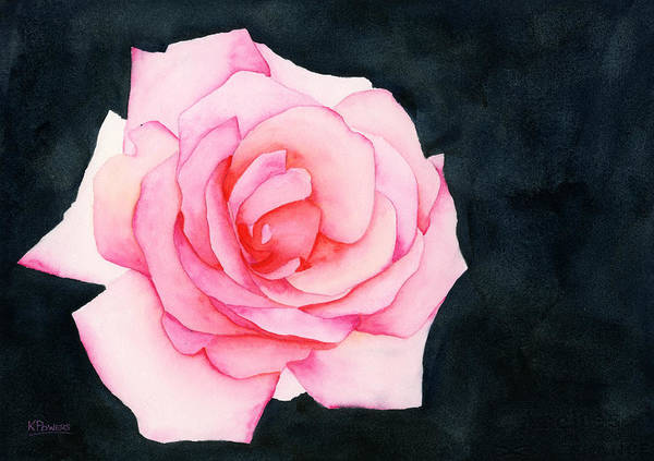 Painting - Single Rose by Ken Powers