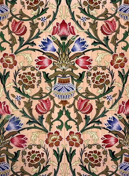 Floral Design Drawing - Single Stem Wallpaper Design, 1905 by John Henry Dearle