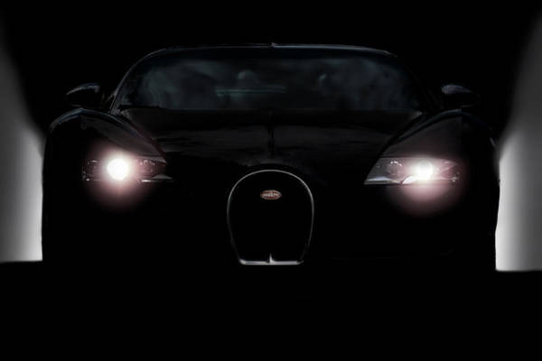 Supercars Digital Art - Sinister Veyron by Peter Chilelli