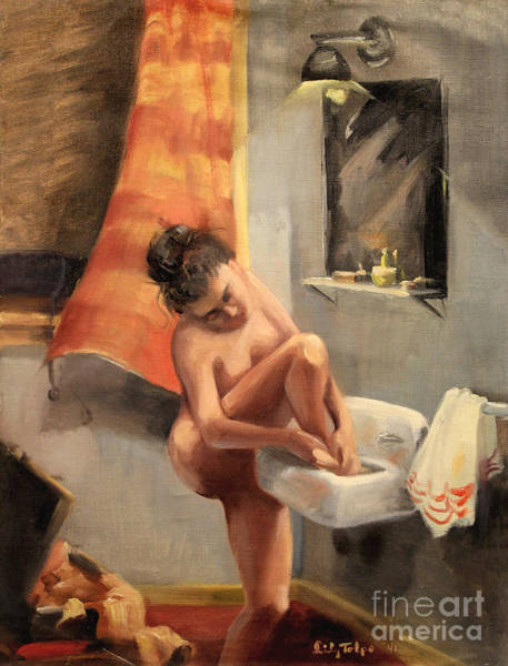 Painting - Sink Bath - 1940 by Art By Tolpo Collection