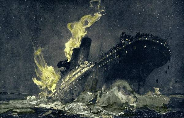 Catastrophe Photograph - Sinking Of Rms Titanic by Sheila Terry/science Photo Library
