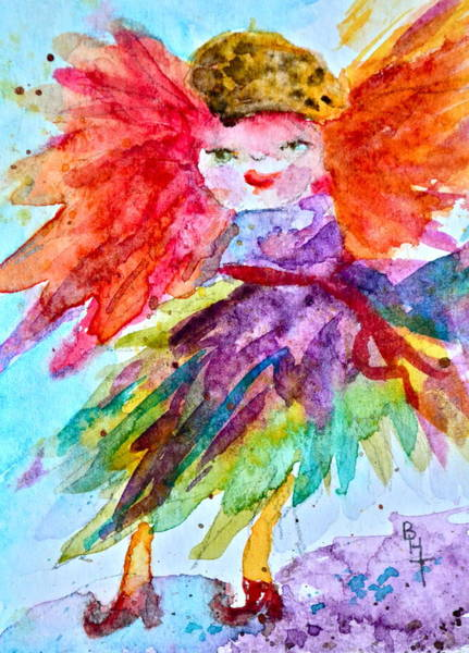 Atc Painting - Siofra by Beverley Harper Tinsley