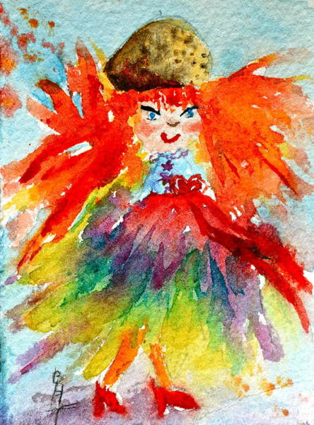 Atc Painting - Siofra II by Beverley Harper Tinsley