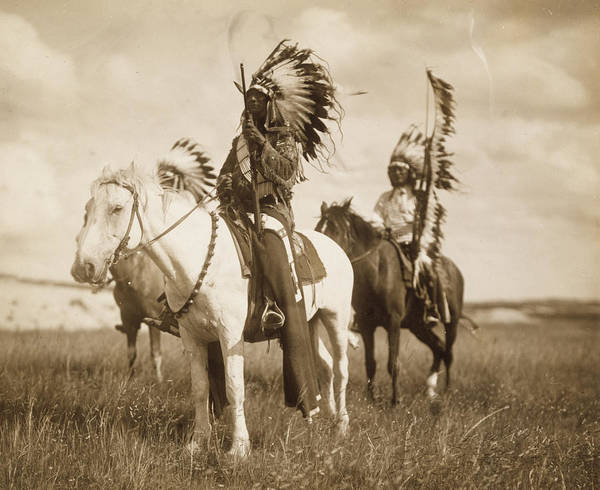 Horseback Wall Art - Photograph - Sioux Chiefs  by Unknown