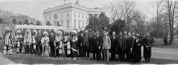 Delegation Photograph - Sioux Indians Washington Dc by Fred Schutz Collection