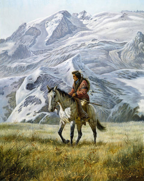 Nebraska Painting - Sioux Scout by Gregory Perillo