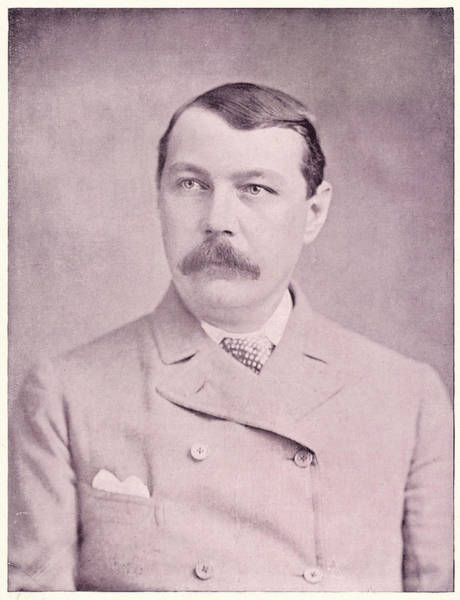 Conan Photograph - Sir Arthur Conan Doyle  British by Mary Evans Picture Library