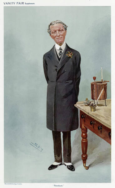 Petroleum Drawing - Sir Boverton Redwood Chemist, Whose by Mary Evans Picture Library