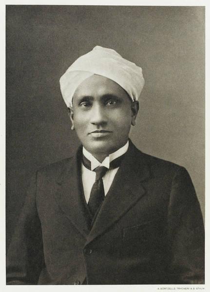Wall Art - Photograph - Sir Chandrasekhara Venkata  Raman by Mary Evans Picture Library