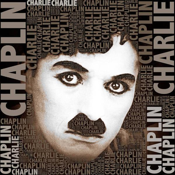 Photograph - Sir Charles Spencer Charlie Chaplin Square by Tony Rubino
